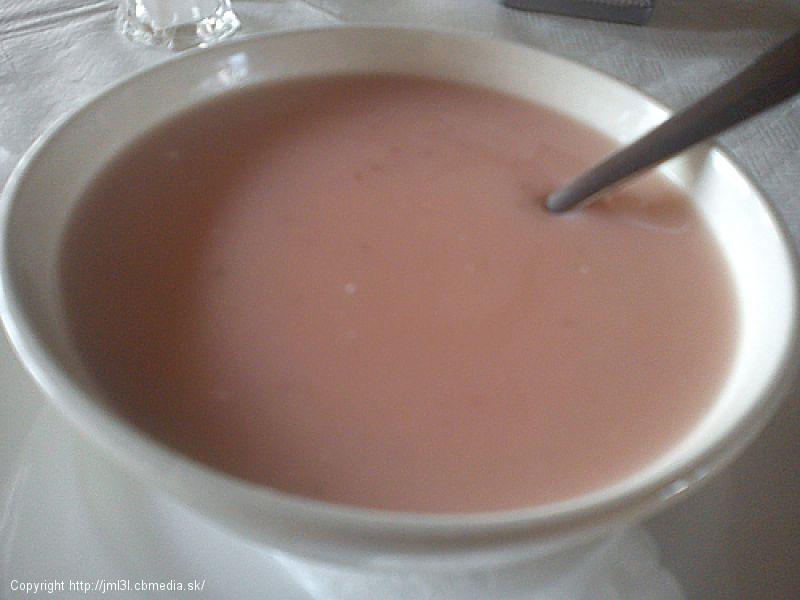 Jahodová polievka - studená
