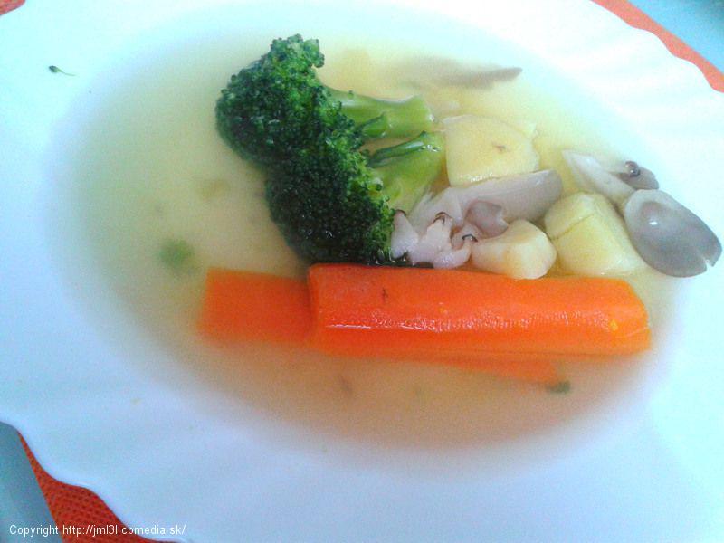 Zeleninová polievka s hlivou